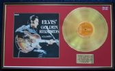 Elvis Presley - 24 Carat Gold Disc and Cover - Gold Records Volume 1
